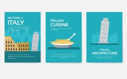 Set of Italy country ornament travel tour concept. Asia traditional, magazine, book, poster, abstract, element. Vector