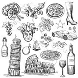 Set of Italy icons vector illustration Royalty Free Stock Image