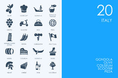 Set of Italy icons Royalty Free Stock Photos