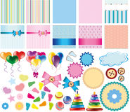 Set of items for card Royalty Free Stock Image