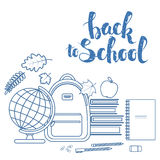 Set of items for education Stock Photo