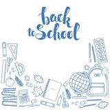 Set of items for education Stock Photography