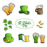 Set Items for holiday St. Patrick's Day. In Royalty Free Stock Images