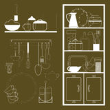 Set of items for the kitchen Royalty Free Stock Photography