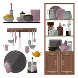 Set of items for the kitchen Royalty Free Stock Images