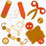 Set of items for needlework.  Stock Photo