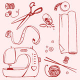 Set items for sewing and crafts Royalty Free Stock Photos