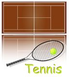 Set of items for tennis. Royalty Free Stock Photos