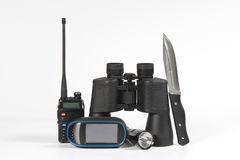 Set of items for travel Stock Photos