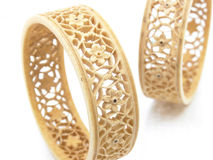 Set of ivory bangles Stock Images