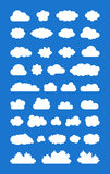 Set of ized Clouds Royalty Free Stock Image