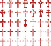 Set of ized Crosses Royalty Free Stock Photo
