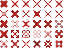 Set of ized Crosses Royalty Free Stock Images