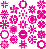 Set of ized Flowers. This is a set of serveral ized flowers Royalty Free Stock Photo