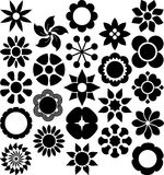 Set of ized Flowers. This is a set of serveral ized flowers Royalty Free Stock Photography