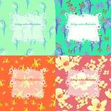 Set jaśmin, motyl, leluja dolina, śnieżyczka dla ca Obrazy Royalty Free