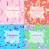 Set jaśmin, motyl, leluja dolina, śnieżyczka samochód Obraz Royalty Free