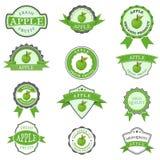 Set jabłczane etykietki Ilustracja Wektor