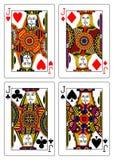 Set of jacks playing cards 62x90 mm vector illustration