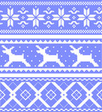 Set  jacquard patterns Stock Image