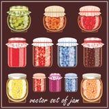 Set of jam. Stock Photo