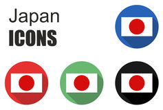 Set japan icons Stock Images