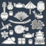 Set of Japan stickers Stock Images