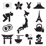 Set of Japan Symbol Icons. Stock Image