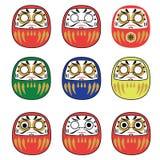 Set of japanese daruma dolls Royalty Free Stock Image