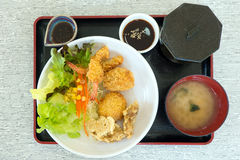 Set of japanese food Stock Images