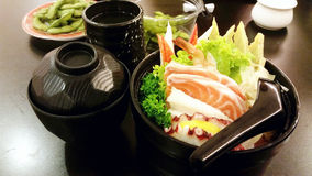Set of Japanese food, Sashimi Royalty Free Stock Image