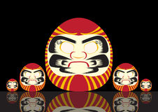 Set of Japanese Lucky Doll ,Vector illustrations Royalty Free Stock Photography