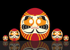 Set of Japanese Lucky Doll ,Vector illustratuons Royalty Free Stock Images