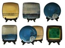 Set with japanese plates Royalty Free Stock Image