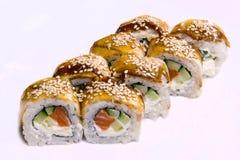 Set of Japanese rolls Stock Photos