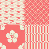 Set of Japanese seamless patterns Royalty Free Stock Photos