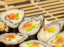 Set of japanese sushi Royalty Free Stock Image