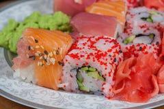 Set of Japanese sushi Royalty Free Stock Photography