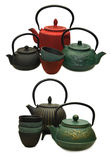 Set with japanese traditional kitchenware Royalty Free Stock Images