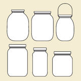 Set of jars template Stock Photo