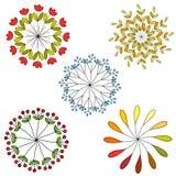 Set jarzynowi ornamenty Obraz Royalty Free