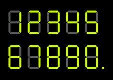 Set jaskrawego wapno zieleni kalkulatora cyfrowe liczby r?wnie? zwr?ci? corel ilustracji wektora ilustracji