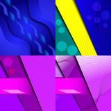Set jaskrawi abstrakcjonistyczni tła Projekt eps 10 Obrazy Stock