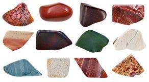 Set of jasper specimens Stock Images