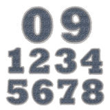 Set of Jean Stitches Numbers Stock Photography