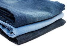 Set of jeans Royalty Free Stock Photography