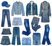 Set of jeans Stock Photo
