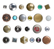Set of jeans buttons Stock Photography