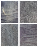 Set of jeans cloth texture Stock Image