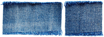 Set of jeans fabric Stock Photos